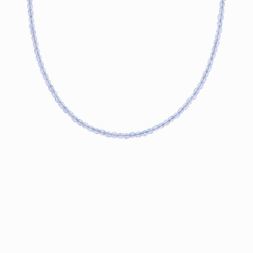 Milky Sapphire Glass Beaded Necklace - Sister the brand