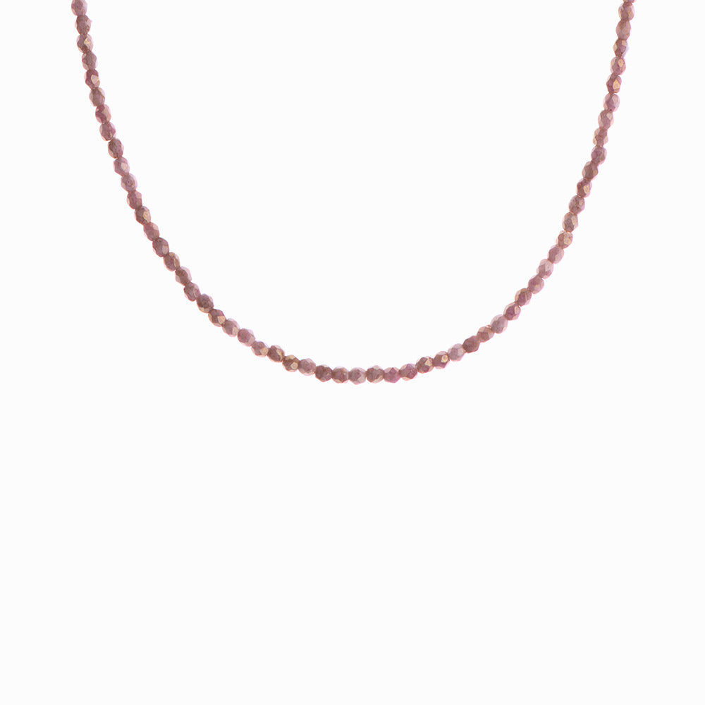 Teracotta Glass Beaded Necklace - Sister the brand