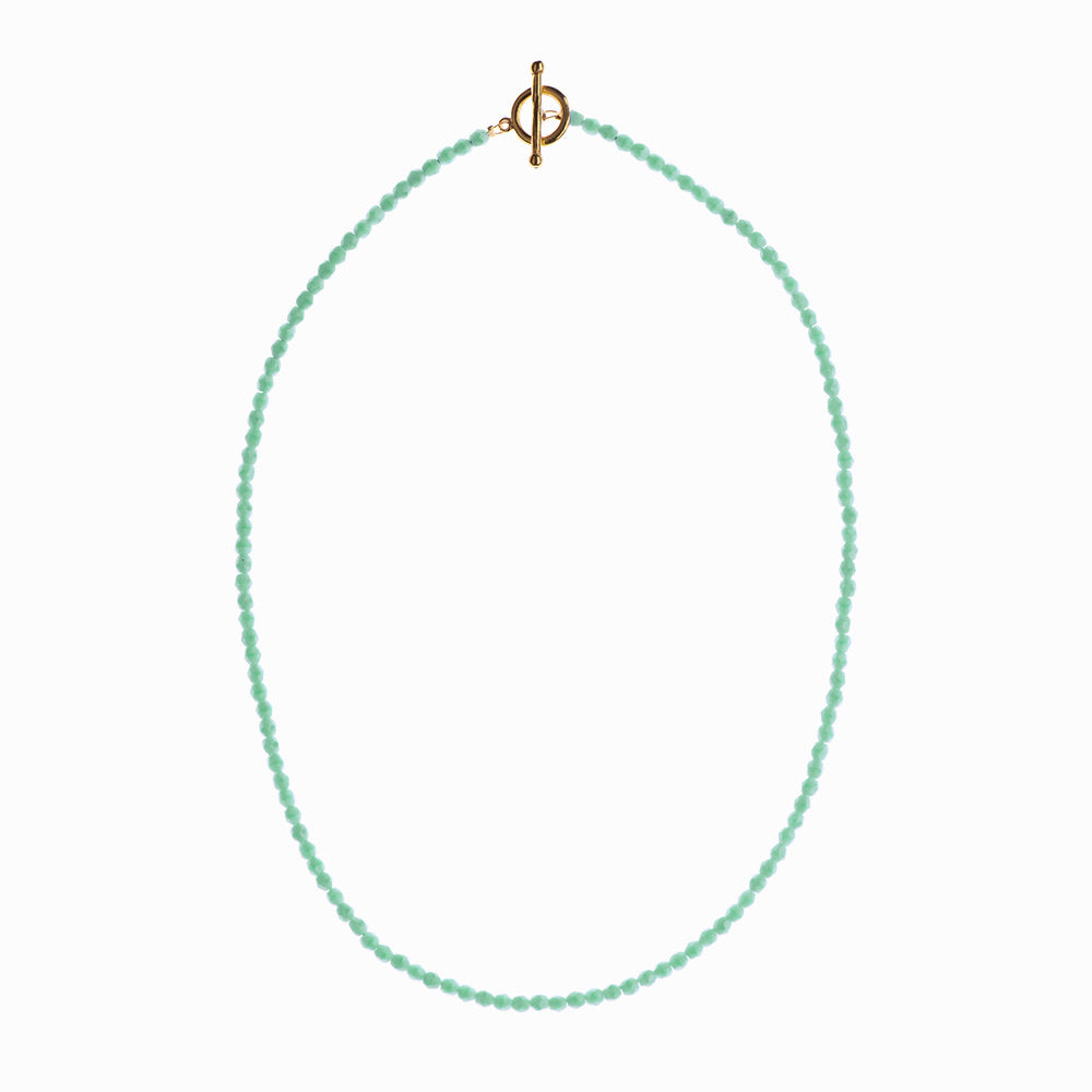 Turquoise Waters Glass Beaded Necklace - Sister the brand