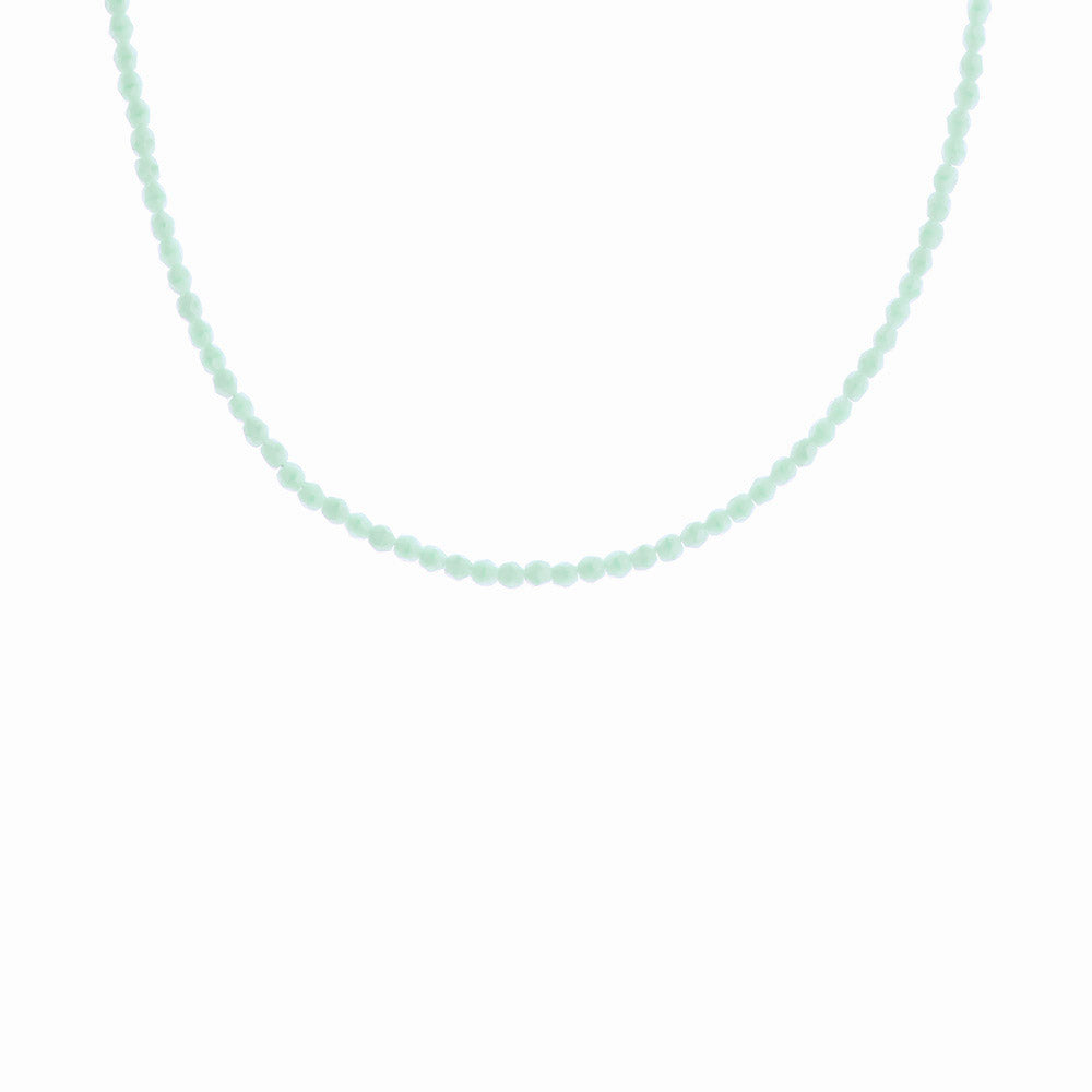 Mint Sorbet Glass Beaded Necklace