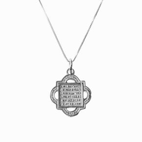Madonna and Child Quatrefoil Silver Pendant