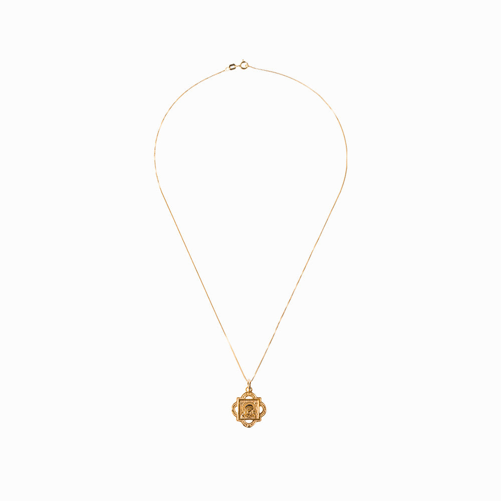 Madonna and Child Quatrefoil Gold Pendant - Sister the brand