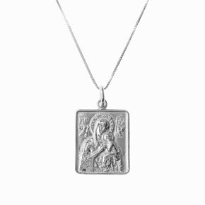 Madonna and Child Frame Silver Pendant - Sister the brand
