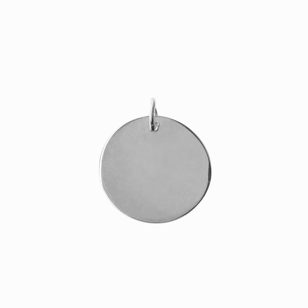 Plain Coin Large Silver Pendant - Sister the brand