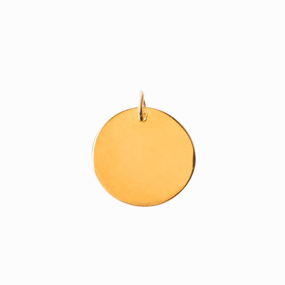 Plain Coin Large Gold Pendant