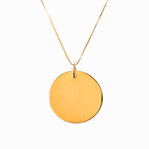 Plain Coin Large Gold Pendant - Sister the brand
