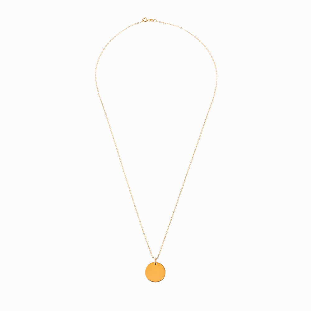 Plain Coin Small Gold Pendant