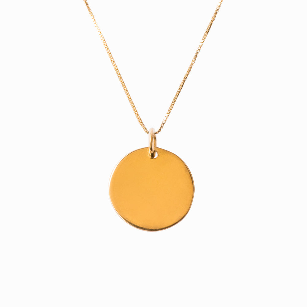 Plain Coin Small Gold Pendant - Sister the brand