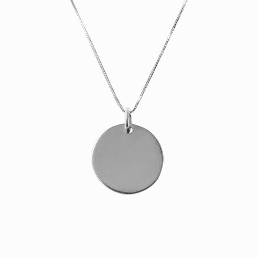 Plain Coin Small Silver Pendant - Sister the brand
