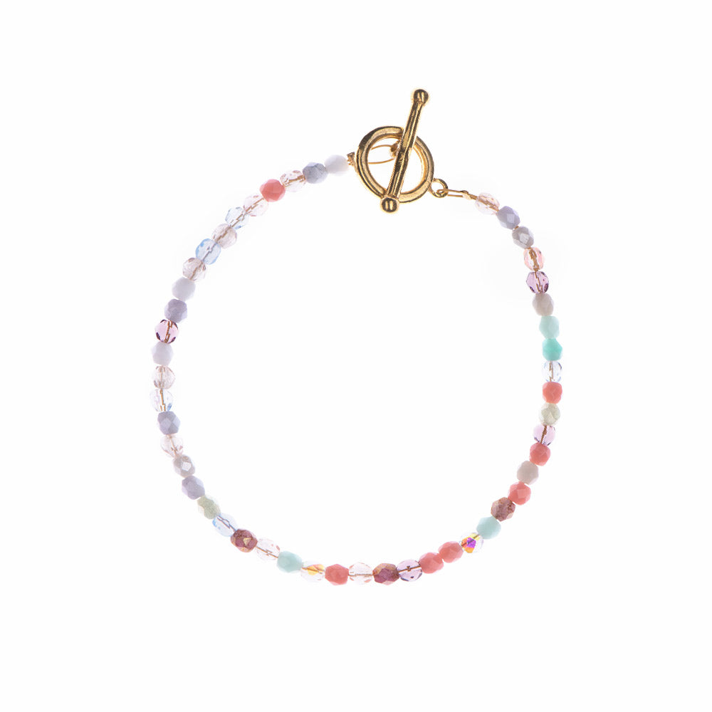 Rainbow Glass Beaded Bracelet - Sister the brand