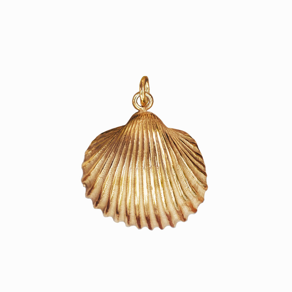 Shell Pendant - Gold-Plated Silver