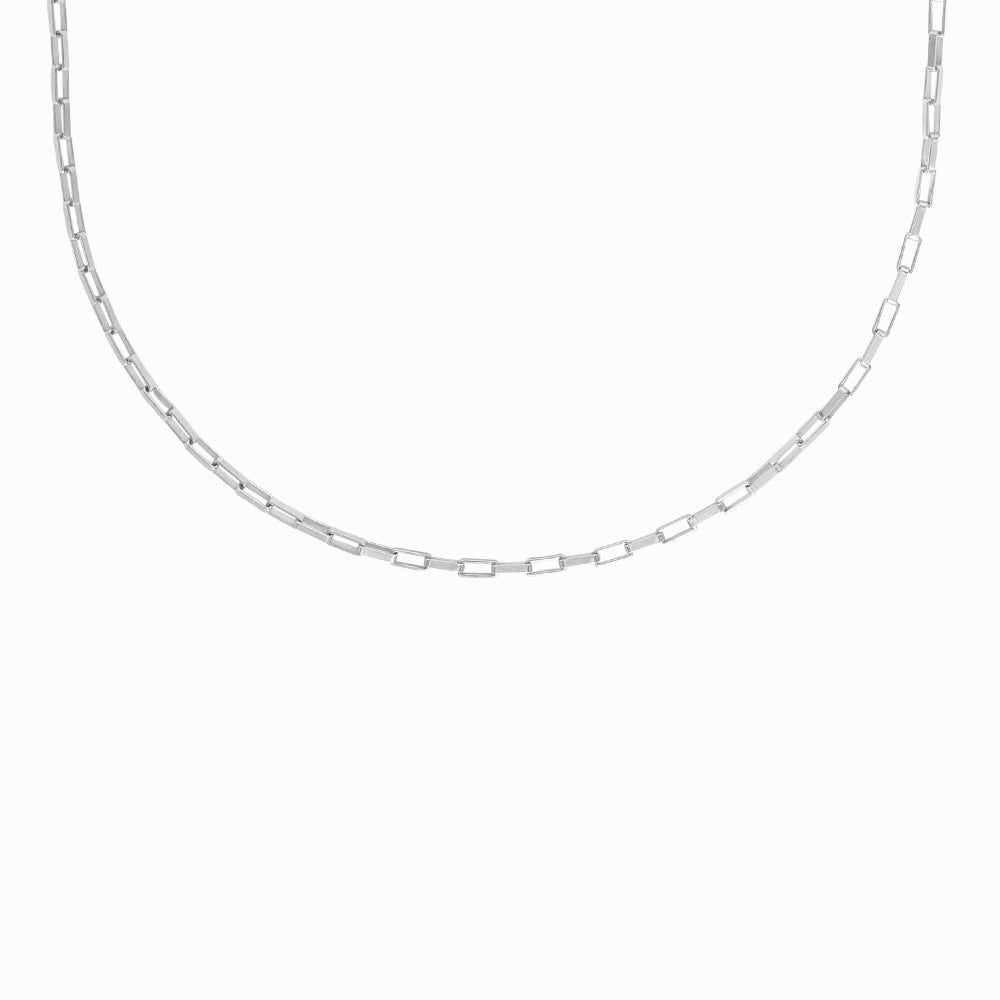 Chunky Chain Necklace in Silver