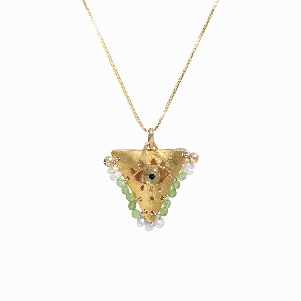 AMAYA Light Green Eye Pendant - Mama - Sister the brand