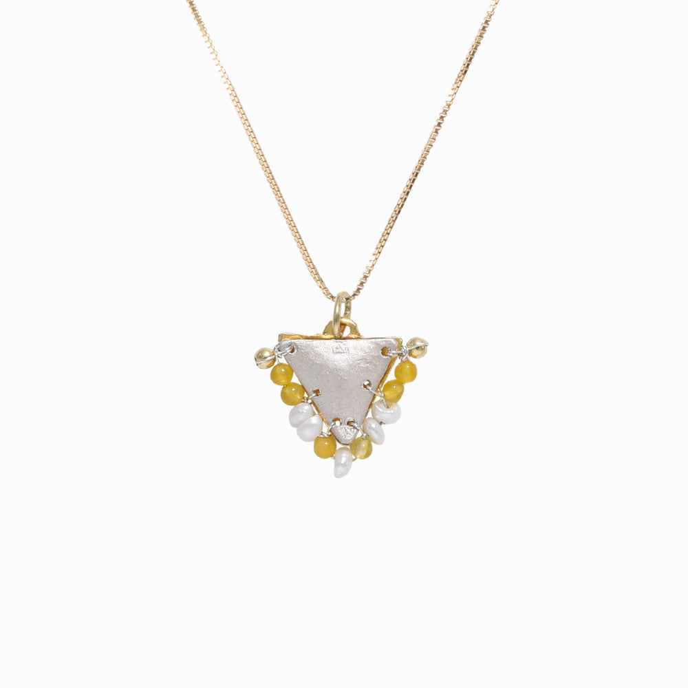 AMAYA Pearl & Yellow Eye Pendant - Baby - Sister the brand