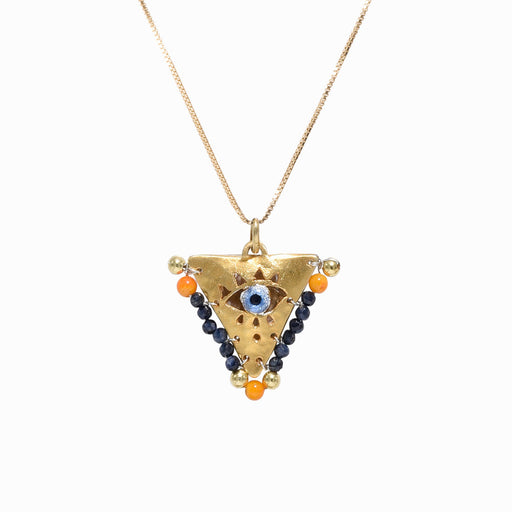 AMAYA Black & Orange Eye Pendant - Mama - Sister the brand