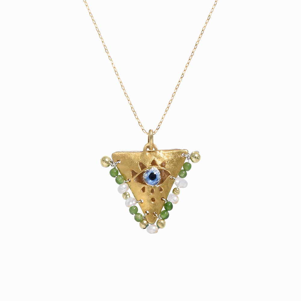 AMAYA Light Green Eye Pendant - Mama