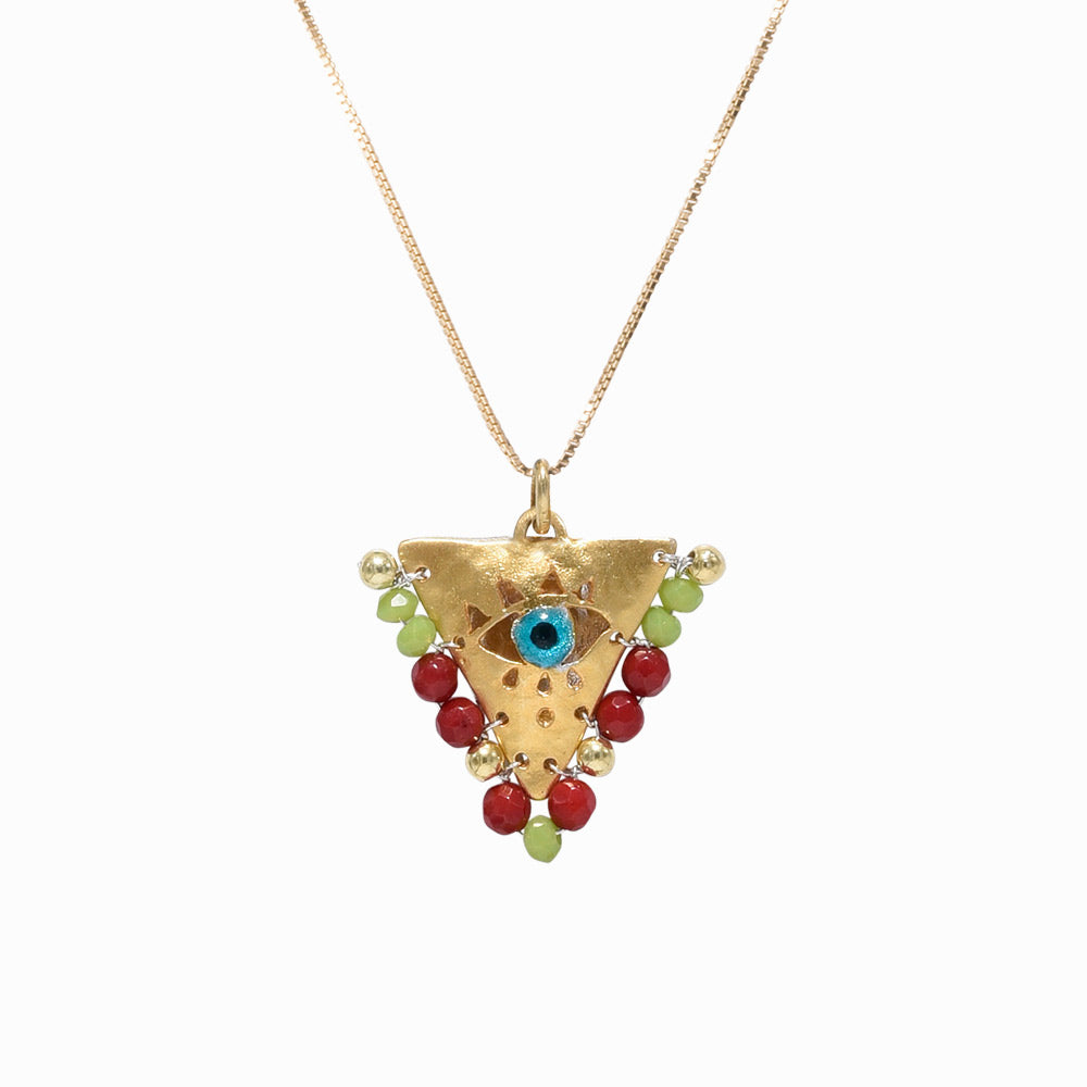 AMAYA Red & Green Eye Pendant - Mama - Sister the brand