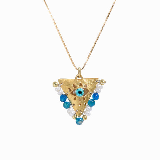 AMAYA Pearl & Blue Eye Pendant - Mama - Sister the brand