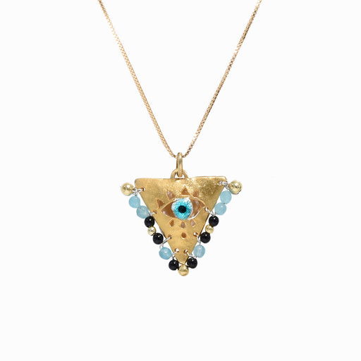 AMAYA Black & Light Blue Eye Pendant - Mama - Sister the brand