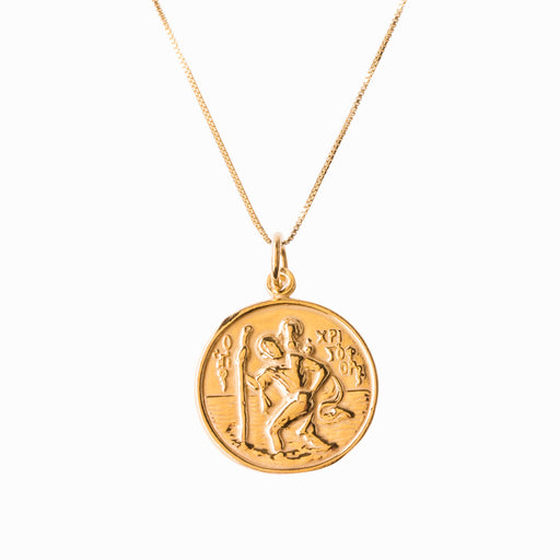 St Christopher and Madonna and Child Gold Pendant - Sister the brand