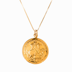 St George and the Dragon Gold Pendant