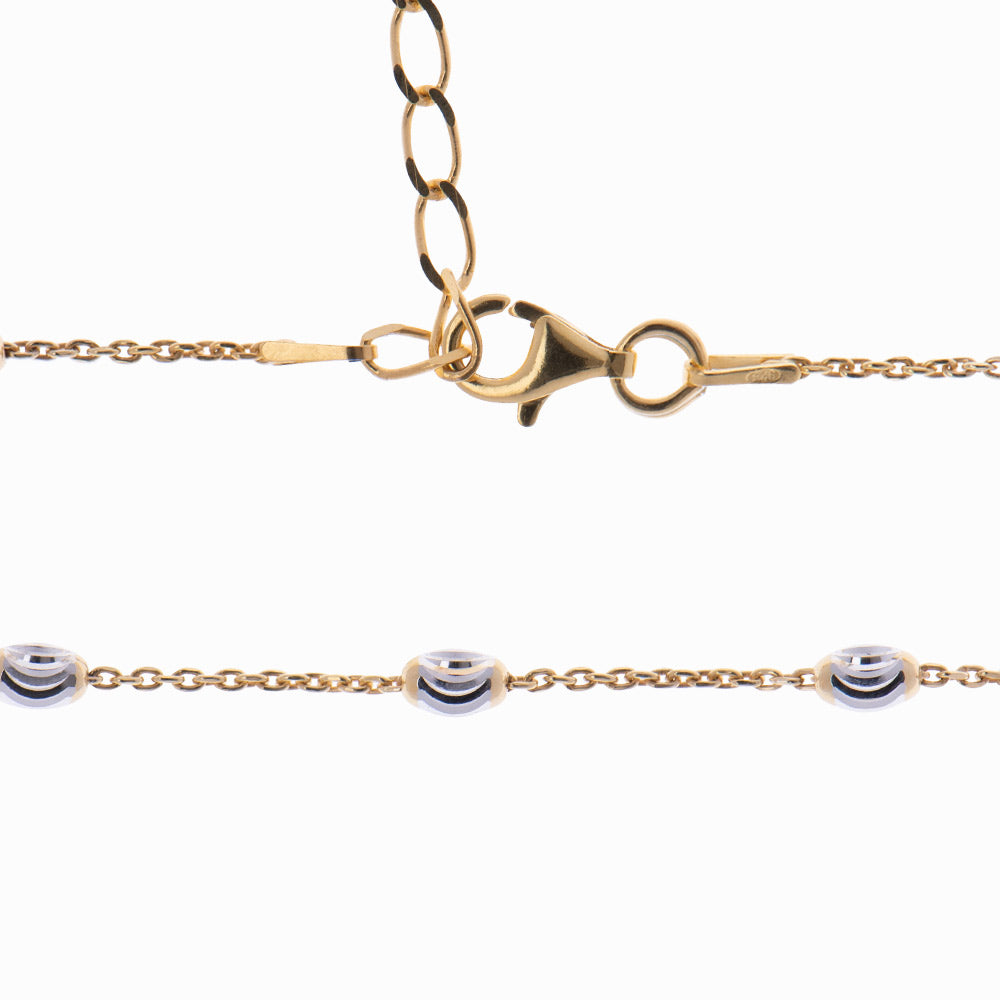 Silver and Gold Ankle Bracelet  - Leda - Sister the brand