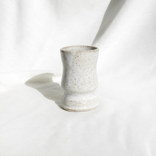 White speckled 'Kampili' ceramic vase