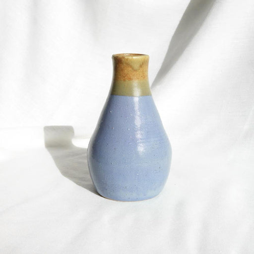 Large lilac and brown ceramic 'Boukala' vase