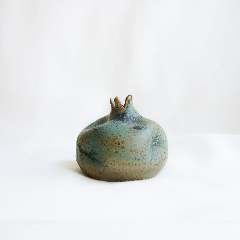 Khaki ceramic pomegranate