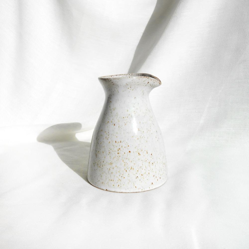 Large white speckled ceramic 'Kanata' caraffe