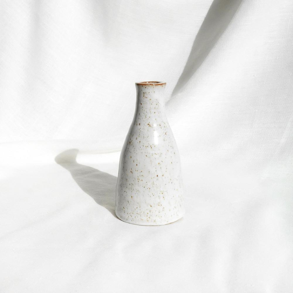 White speckled ceramic 'Boukala' vase