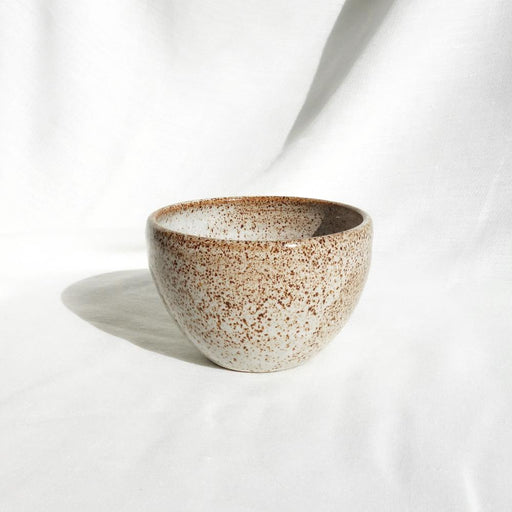 Medium white speckled ceramic pot