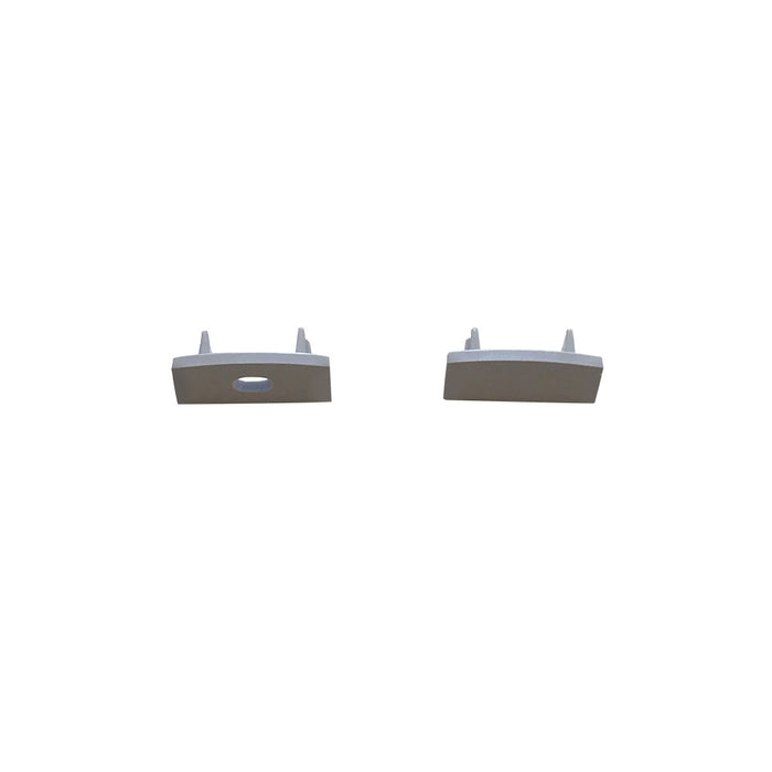 EL-CH-102 LED Slim Surface Aluminum Channel End Caps - Step 1 Dezigns