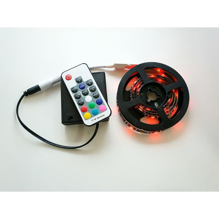 Battery Powered LED RGB Tape Light Kit 5V - 24V DC 3 ft Reel - Step 1 Dezigns