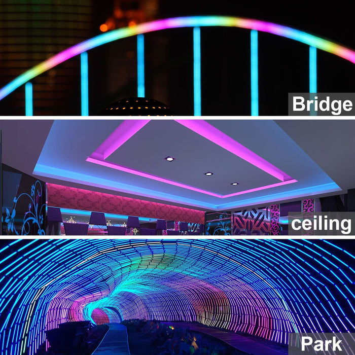 LED RGB Color Changing Flex Neon Light 120V AC 164 ft Kit - Step 1 Dezigns