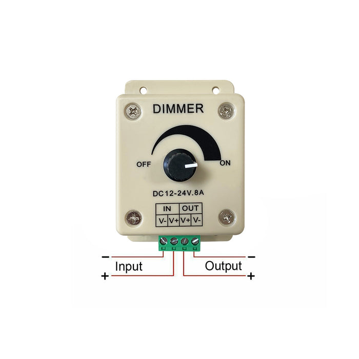LED Rotary Knob Dimmer Switch 12 or 24V - Step 1 Dezigns