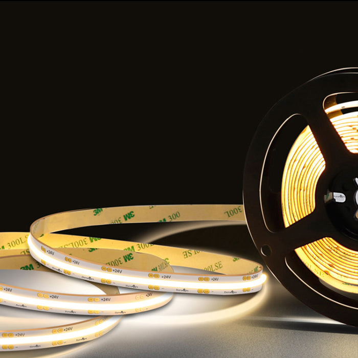 LED COB Flexible Tape Lights 24V DC 16 ft Reel - Step 1 Dezigns