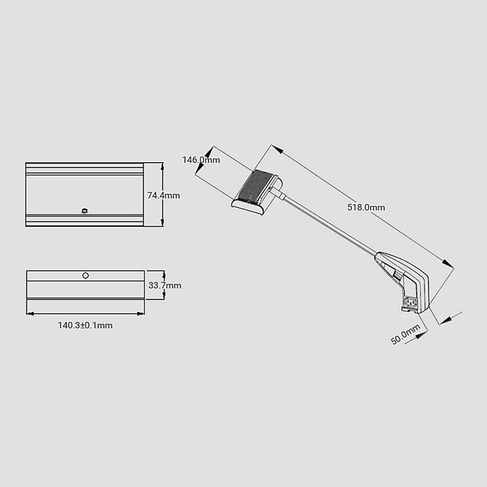 LED Linkable Display Arm Light - Step 1 Dezigns