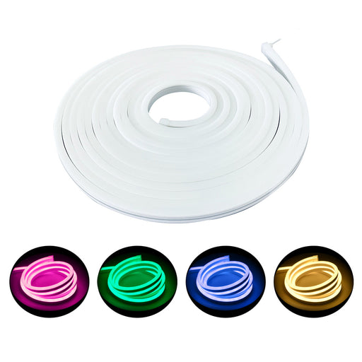 LED RGB+WW Color Changing Flex Neon Light 24V DC 32 ft Reel - Step 1 Dezigns