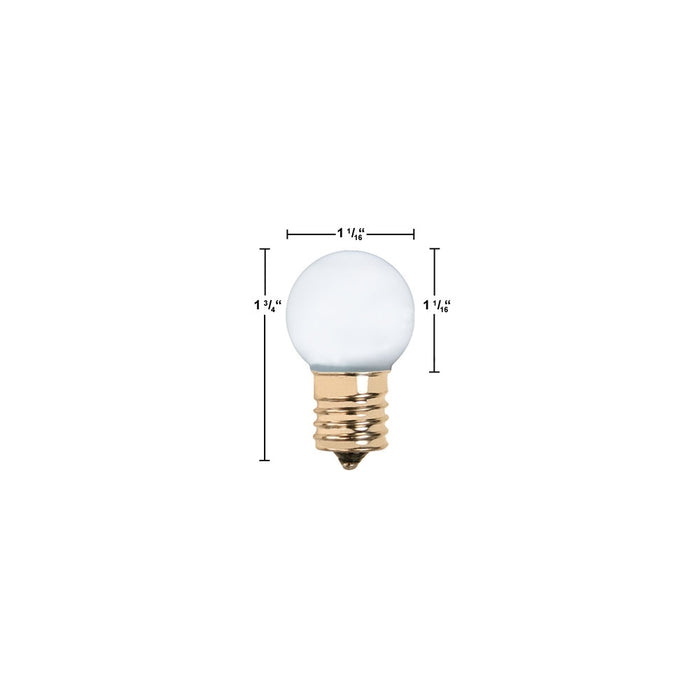 LED E17 Intermediate Base G30 Light Bulb - step-1-dezigns
