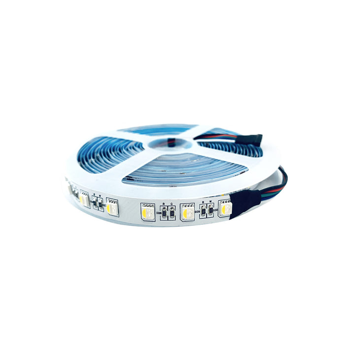 LED RGBWW Flexible Tape Light 12V or 24V DC 16 ft Reel IP20 - step-1-dezigns