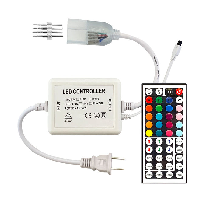 EL-FXN-RGB LED Color Changing Flex Neon Controller Kit - Step 1 Dezigns