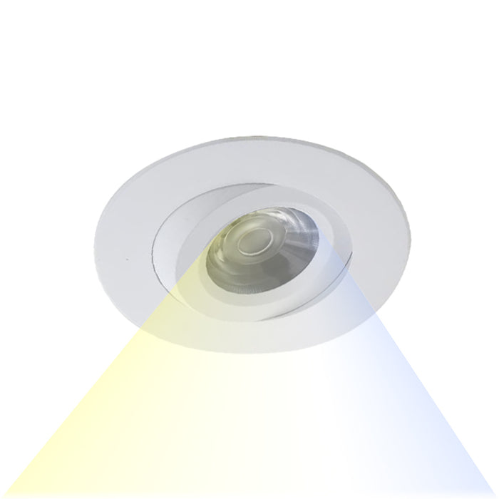 LED CCT Selectable Gimbal Downlight 8 Watt - Step 1 Dezigns