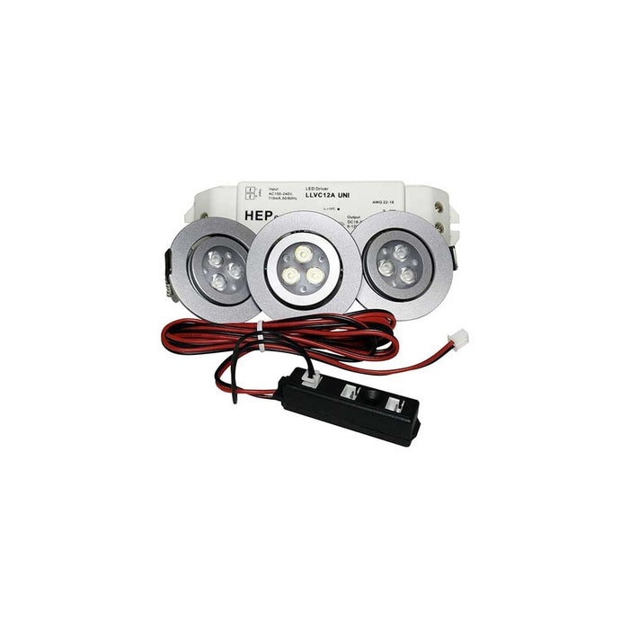 LED Swivel 3 Downlights Kit 4 Watt - Step 1 Dezigns