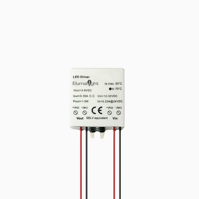 12V DC to 350mA 1-3 Watt LED Power Converter - Step 1 Dezigns