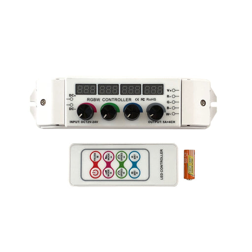 LED RGBW Rotary Knob Controller with Remote - Step 1 Dezigns