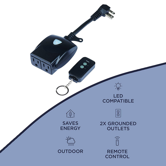 LED Outdoor On/Off Switch with Wireless Remote - Step 1 Dezigns