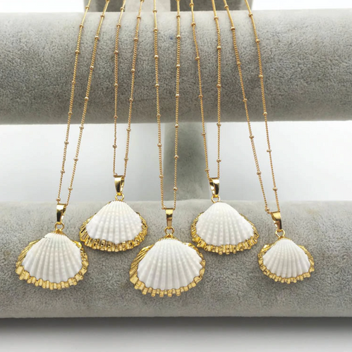 Gold Dipped Scallop Shells