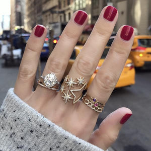 New York Stars and Chains Rings