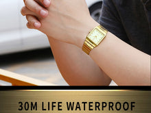 Load image into Gallery viewer, golden watch vintage watch for men luxury watches mens fashion daniel wellington